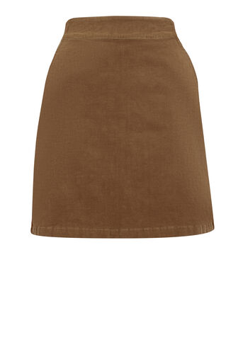 Warehouse, CORD PELMET SKIRT Tan 0