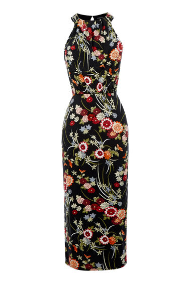 Warehouse, ORIENTAL FLORAL DRESS Multi 0