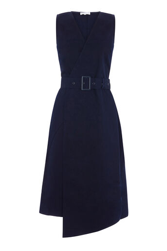 Warehouse, COTTON D RING DRESS Navy 0