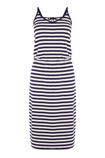Warehouse, STRIPE CAMI MIDI DRESS Blue Stripe 0