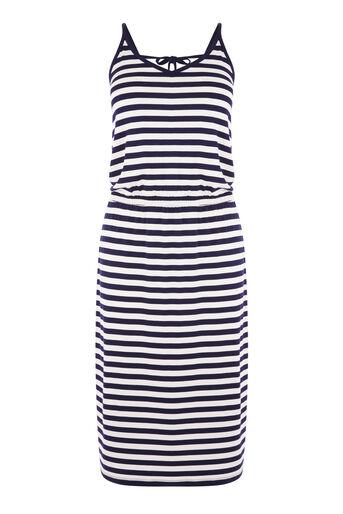 Warehouse, STRIPE CAMI MIDI DRESS Blue Stripe 0