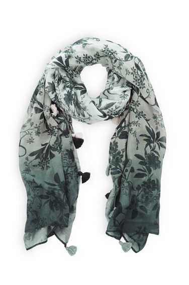 Warehouse, Toile de jouy Scarf Light Grey 0
