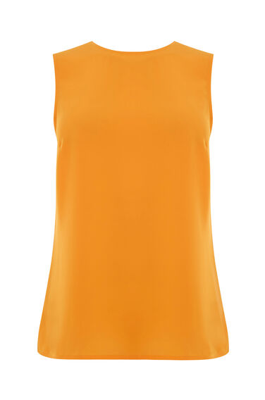 Warehouse, OPEN BACK TIE TOP Yellow 0
