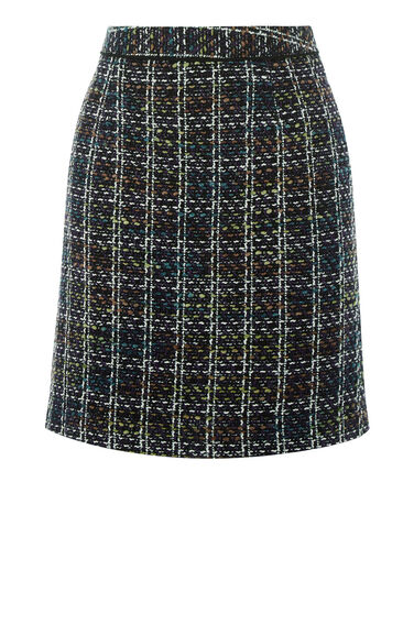 Warehouse, TWEED PELMET SKIRT Multi 0