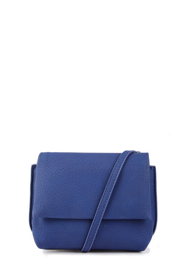 Warehouse, Grainy Mini Crossbody Bag Bright Blue 0