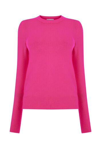 Warehouse, SOFT CREW JUMPER Bright Pink 0