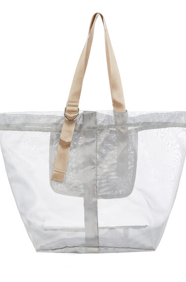 Warehouse, D RING MESH TOTE BAG Silver Colour 0