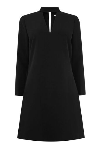 Warehouse, CUT OUT DETAIL DRESS Black 0
