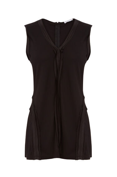 Warehouse, SILK TRIM VEST Black 0