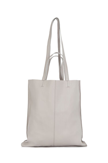 Warehouse, LEATHER DOUBLE HANDLE BAG Stone 0