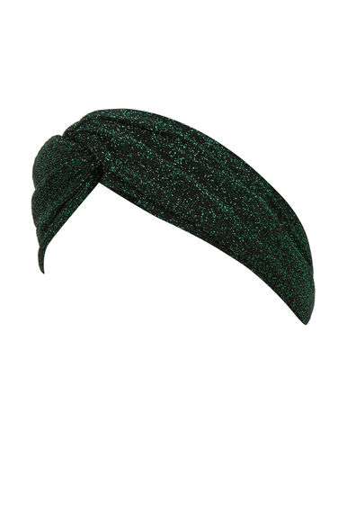 Warehouse, Shimmer Knitted Headband Dark Green 0