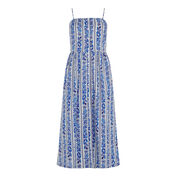 Warehouse, Printed Cami Midi Dress Blue Pattern 0