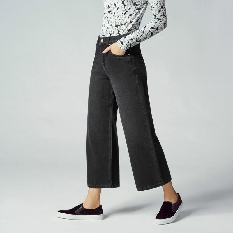 Warehouse, Wide Cut Jeans Black 1