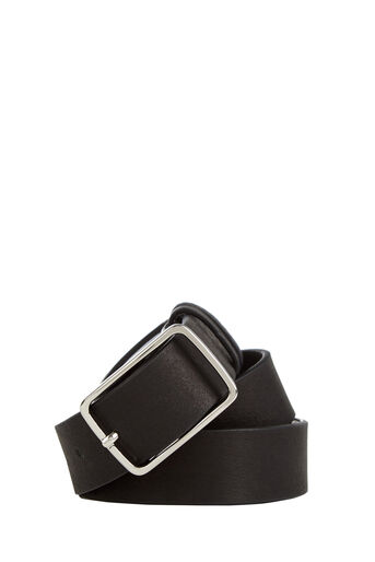 Warehouse, LEATHER JEANS BELT Black 0