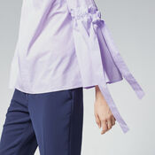 Warehouse, COTTON TIE SLEEVE TOP Lilac 4