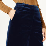 Warehouse, WIDE LEG CORD TROUSERS Navy 4
