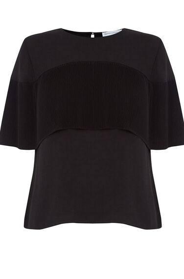 Warehouse, PLEATED CAPE TOP Black 0