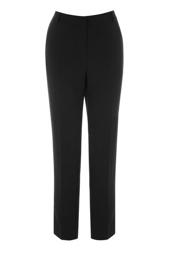 Warehouse, CLEAN FRONT SLIM LEG TROUSERS Black 0