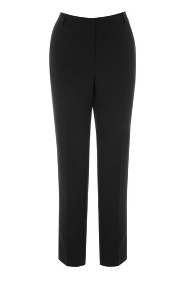 Warehouse, CLEAN FRONT SLIM LEG TROUSER Black 0