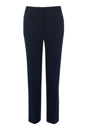 Warehouse, TEXTURED SLIM LEG TROUSER Navy 0
