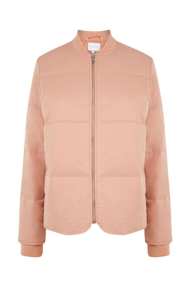 Warehouse, Padded Bomber Jacket Light Pink 0