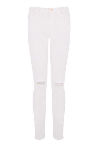 Warehouse, Ouder gemaakte skinny jeans Wit 0