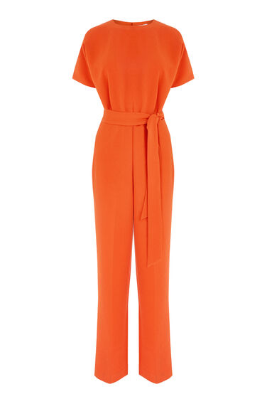 Warehouse, STRAIGHT LEG JUMPSUIT Bright Red 0