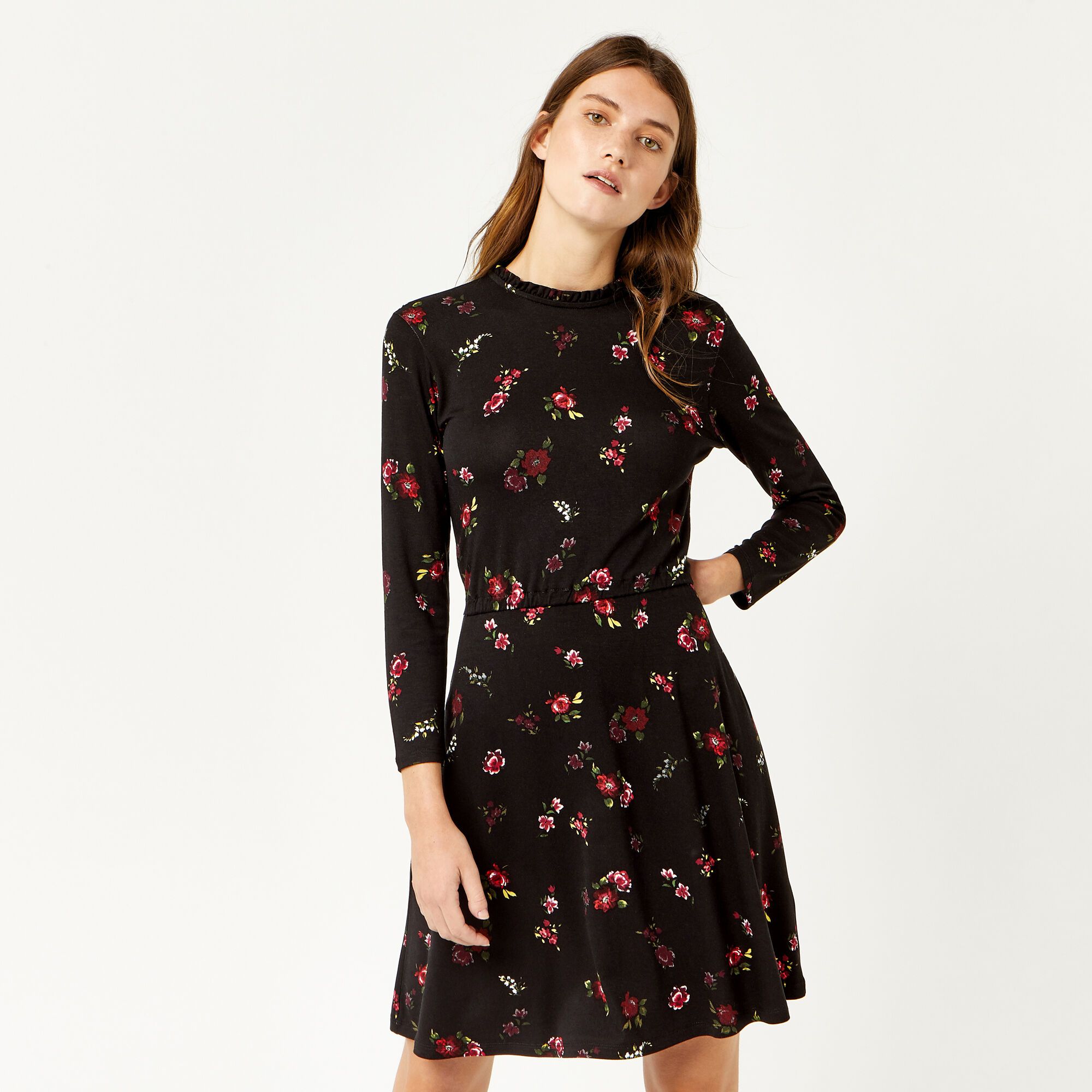 Warehouse, SNOWDROP FLORAL PRINT DRESS Multi 1
