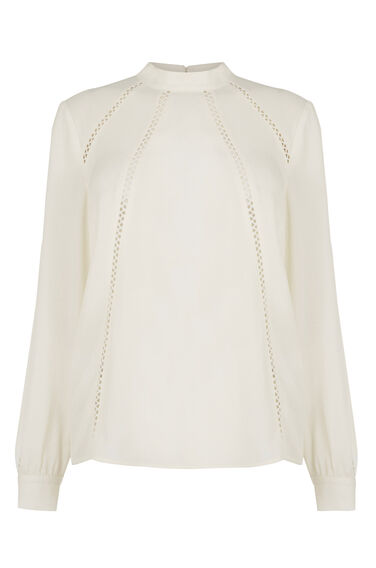 Warehouse, Victoriana Top White 0
