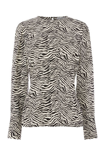 Warehouse, ZEBRA PRINT PUFF SLEEVE TOP Zebra 0