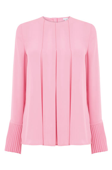 Warehouse, BOX PLEAT TOP Bright Pink 0