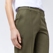 Warehouse, COMPACT COTTON TROUSERS Khaki 4