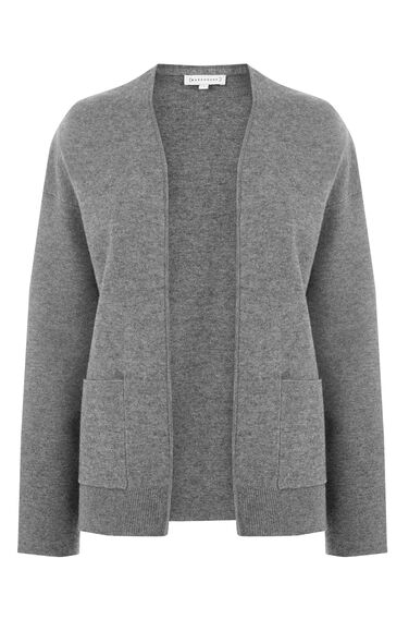 Warehouse, BOXY POCKET CARDI Dark Grey 0