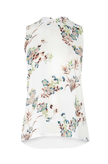 Warehouse, VINTAGE FLORAL WOVEN FRONT TOP Multi 0