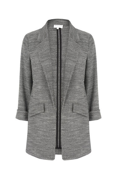 Warehouse, TEXTURED BLAZER Dark Grey 0