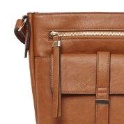 Warehouse, Tab Pocket Crossbody Bag Tan 3