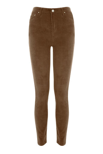 Warehouse, CORD SKINNY CUT JEAN Tan 0