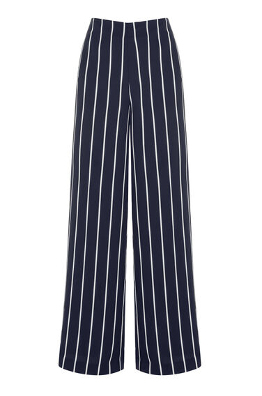 Warehouse, STRIPE TROUSERS Black Stripe 0