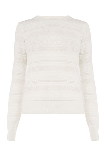 Warehouse, PRETTY STITCH JUMPER Cream 0
