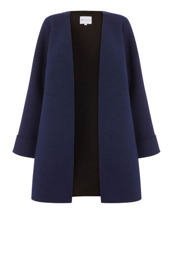 Warehouse, SHORT BONDED SWING COAT Navy 0