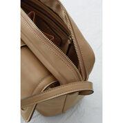 Warehouse, Tab Pocket Shoulder Bag Beige 3