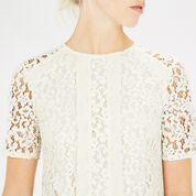 Warehouse, PANELLED LACE TOP Cream 4