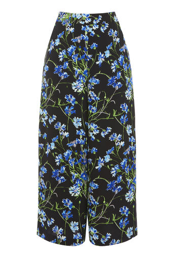 Warehouse, FULL BLOOM CULOTTES Black 0