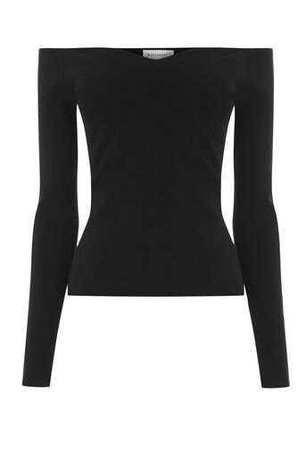 Warehouse, SWEETHEART NECKLINE TOP Black 0