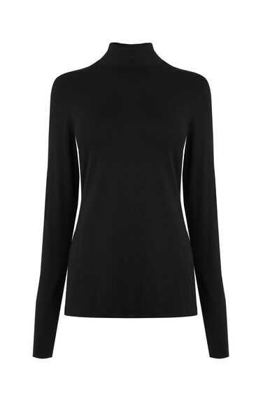 Warehouse, TURTLE NECK TOP Black 0