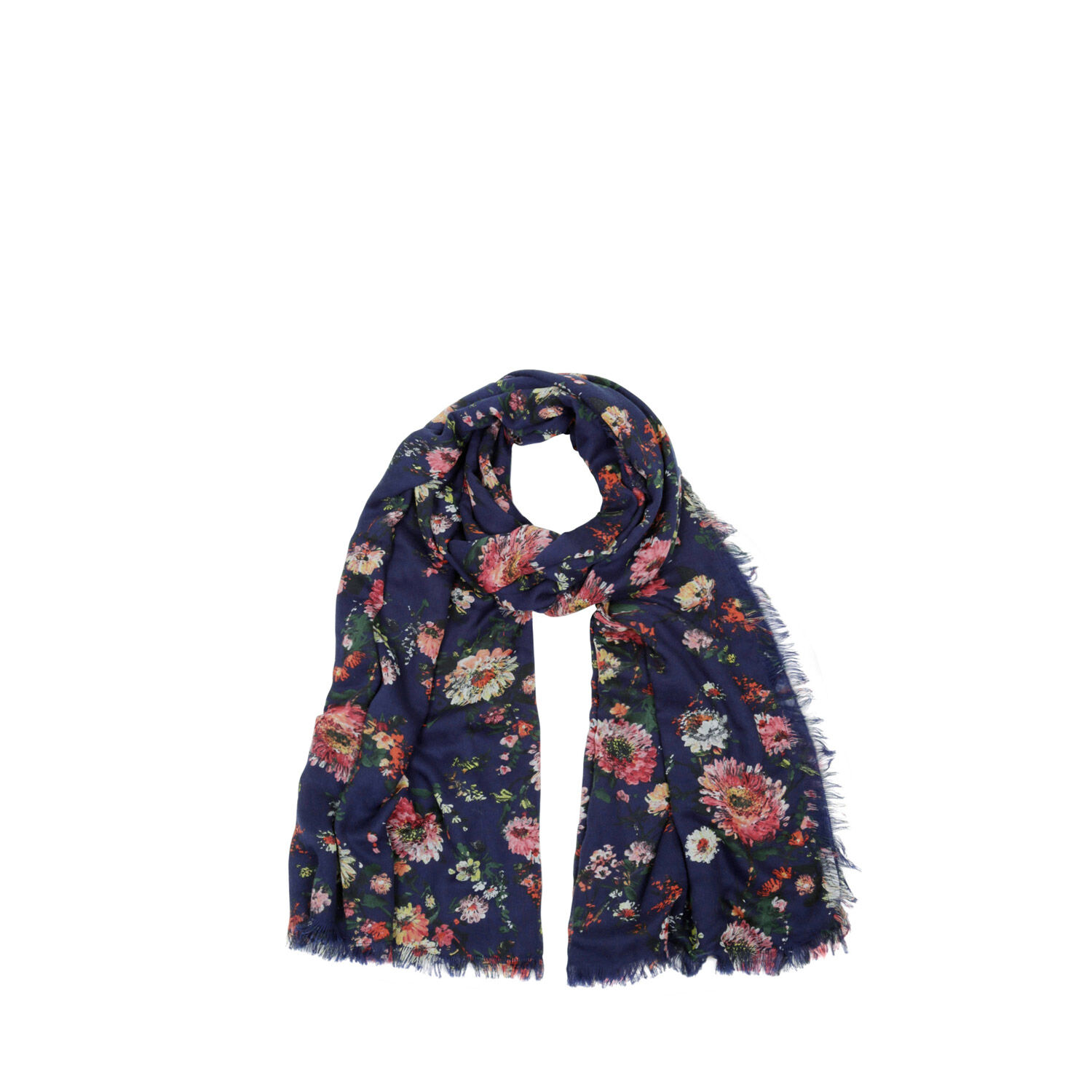 Warehouse, Printed Floral Scarf Blue Pattern 1