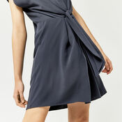 Warehouse, TIE FRONT CASUAL SHIRT DRESS Navy 4