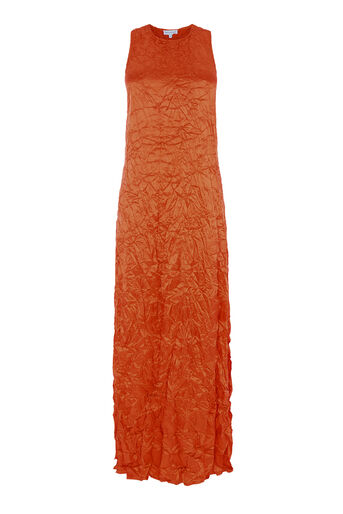 Warehouse, Crinkle Twist Back Maxi Dress Orange 0