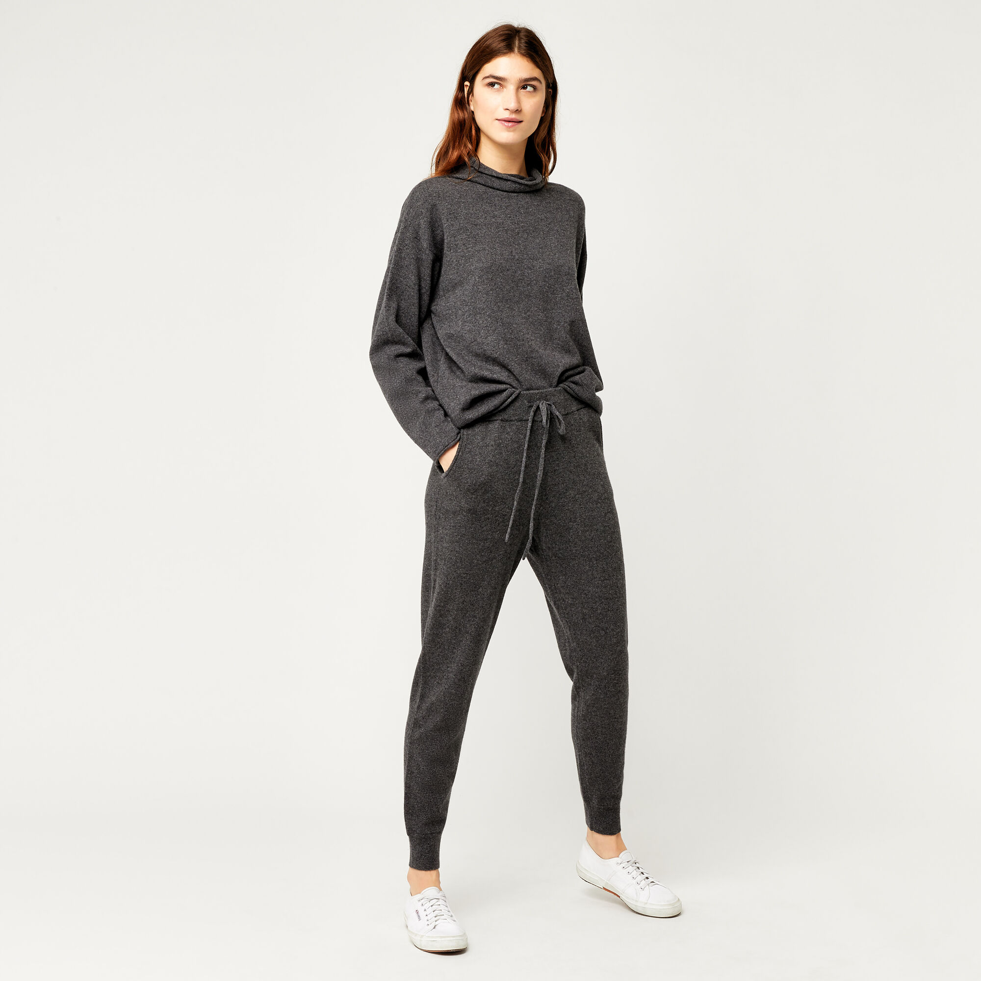 Warehouse, CASHMERE JOGGER Dark Grey 1
