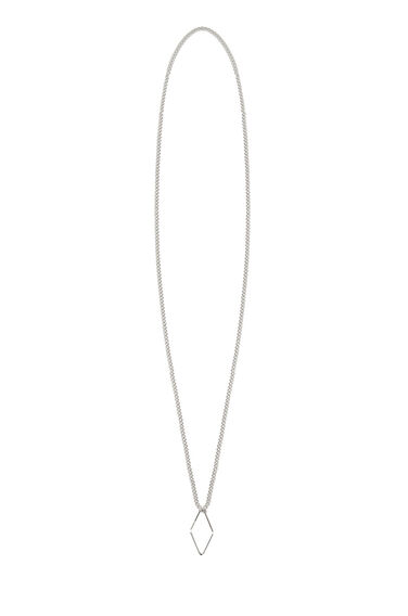 Warehouse, GEO DIAMOND NECKLACE Silver Colour 0